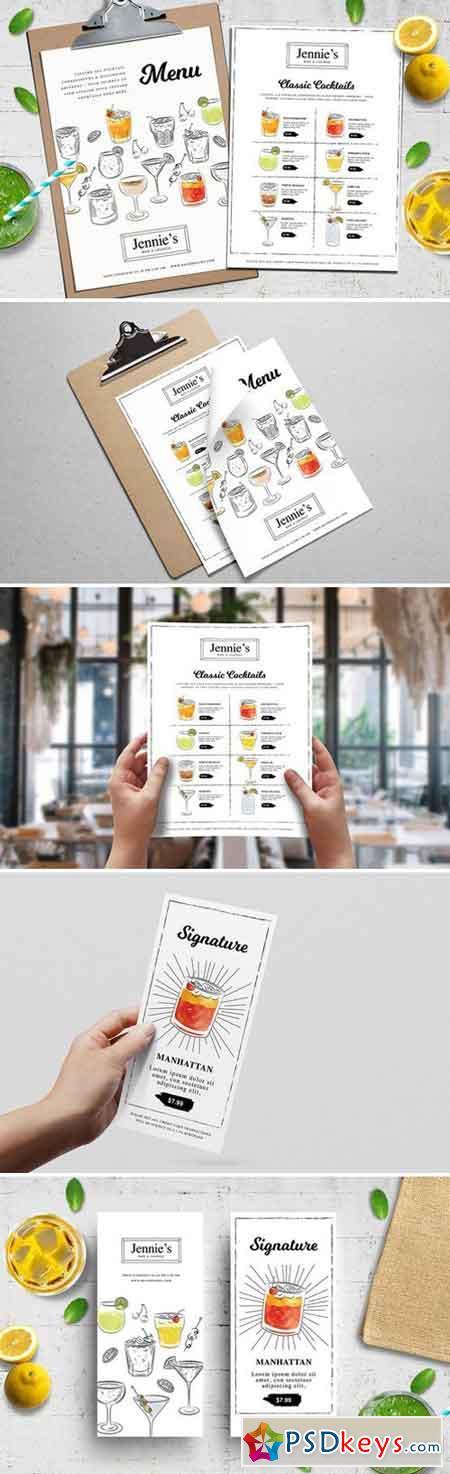 Cocktail Menu Template Vol3 2277603 » Free Download Photoshop