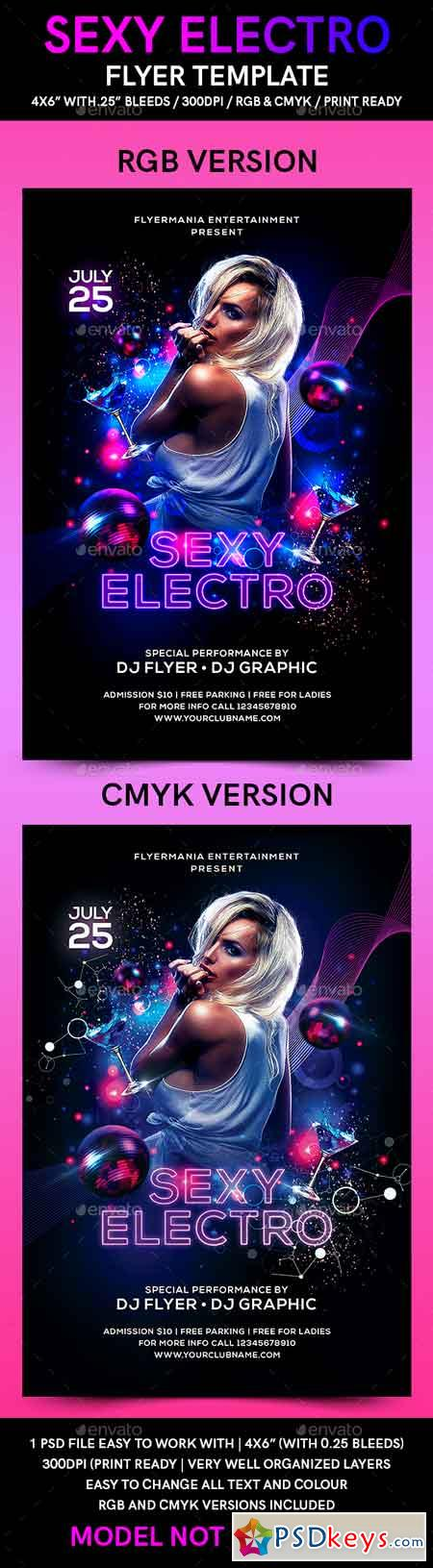 Sexy Electro Flyer Template 21662443 » Free Download Photoshop - electro flyer