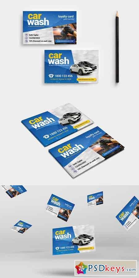 Car Wash Business Card Template 3195548