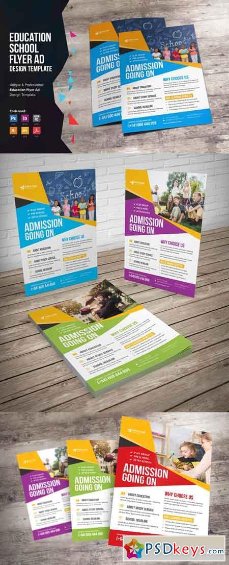 Education School Flyer Design 3368839