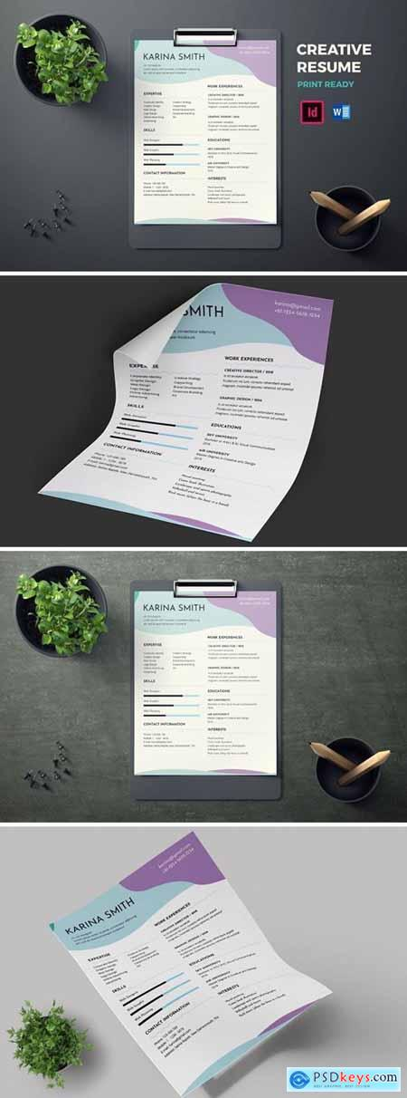 3 page resume template indd docx torrent