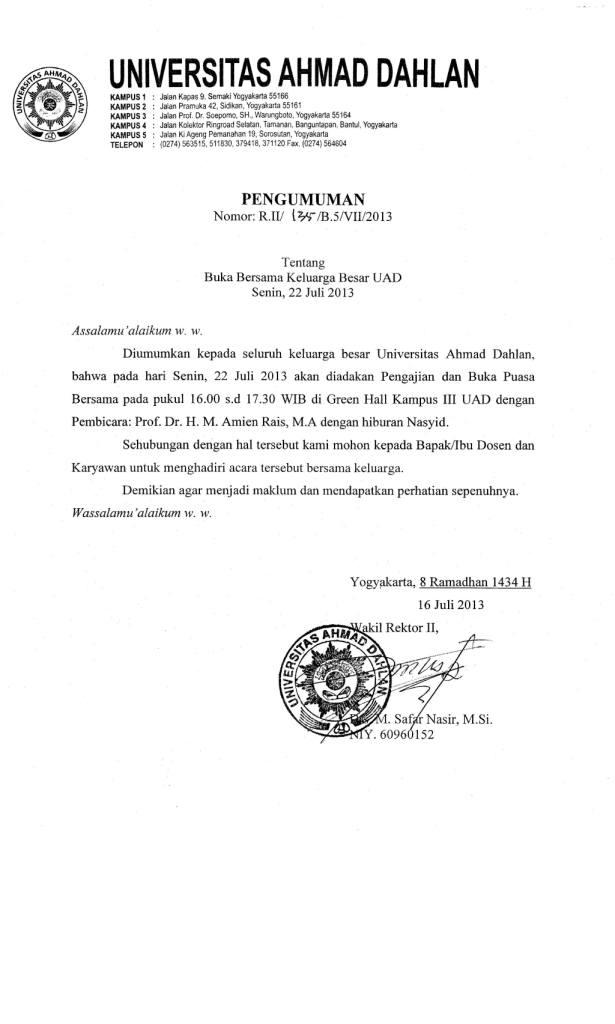 surat undangan buka puasa bersama resmi contoh isi undangan