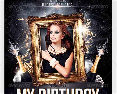 40th Birthday Ideas Free Birthday Party Invitation Templates Photoshop