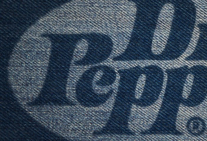Wall Designs Jeans Fabric Logo Mockup