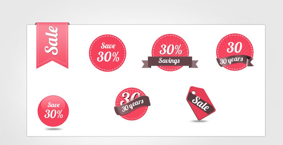 120+ Free Badges Vector and PSD Templates - sale tag template