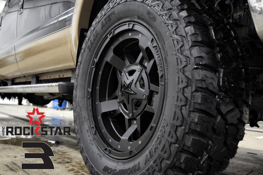 Blacked Out Kmc Wheels Rockstar 3 Psg Automotive