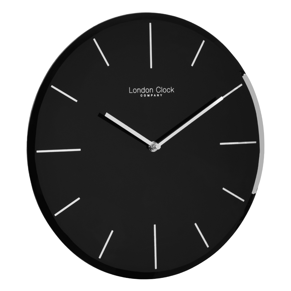 Wall Clocks Glass Glass Wall Clock Black By London Clock Company