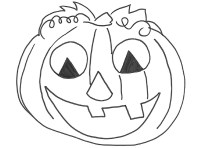 Come disegnare zucche di Halloween su stoffa