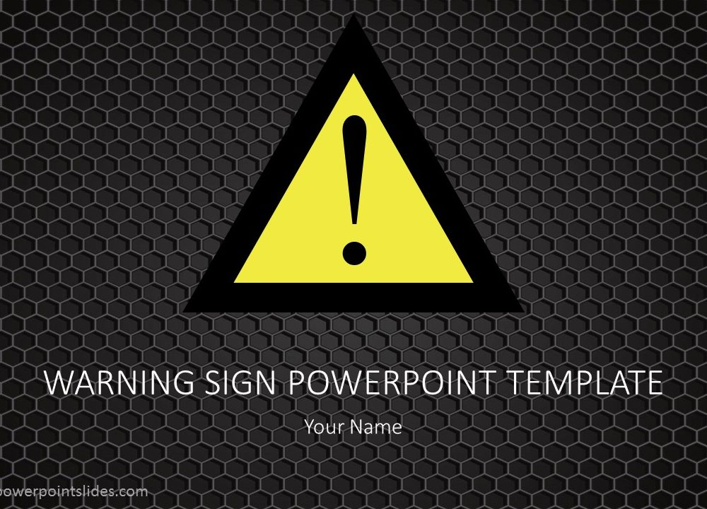 Warning Sign PowerPoint Background