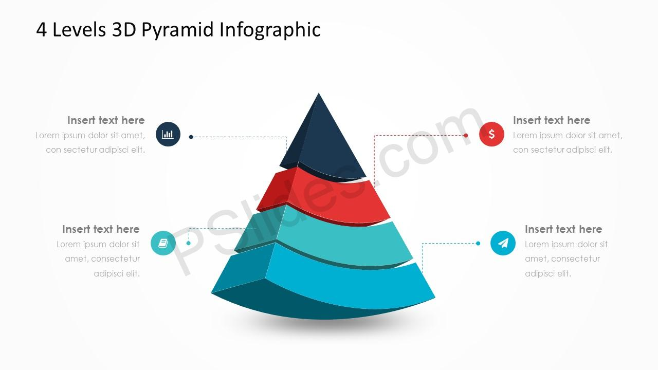 4 Levels 3d Pyramid Infographic Pslides