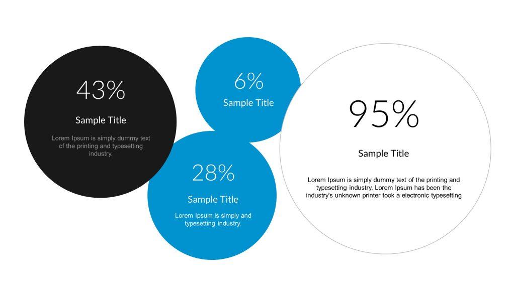 Metric Bubbles PowerPoint Diagram - Pslides