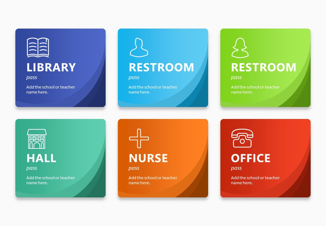 Editable Hall Pass Cards - Pslides