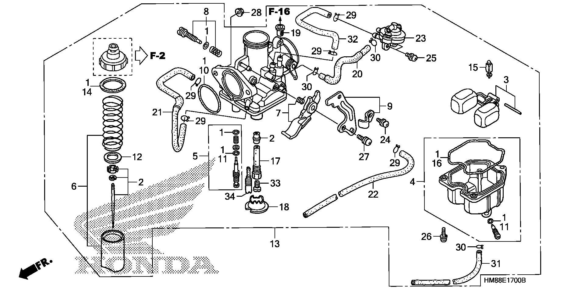 diagram of honda atv parts 2006 trx250ex a carburetor diagram