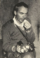 Allan Richardson eats a mushroom