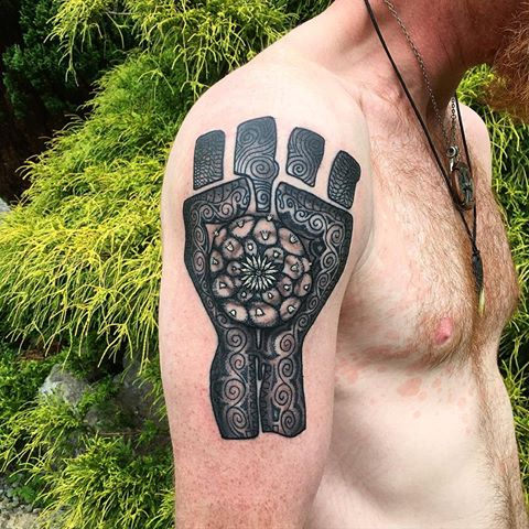 Gonzo Fist tattoo by Andres Gomez