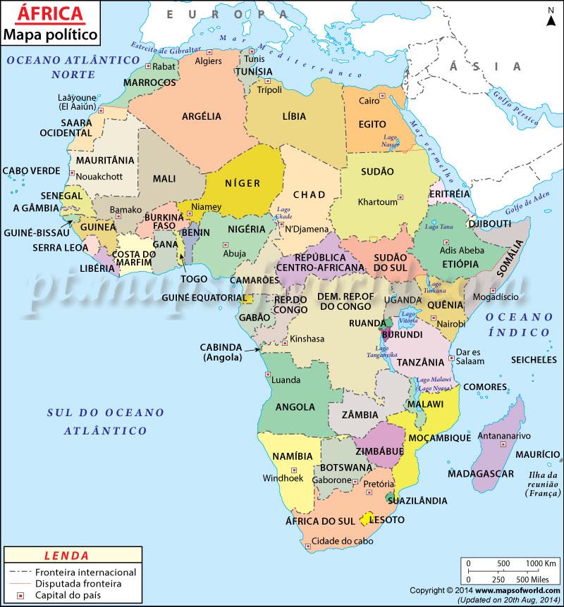 África Mapa , Mapa da África