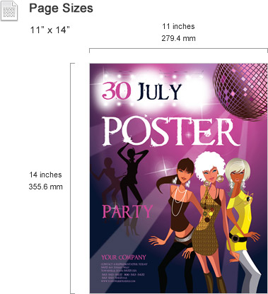 Poster Templates Features - SmileTemplates - microsoft poster template