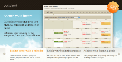 PocketSmith Homepage