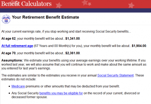 Social Security Benefit Estimator