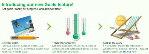 Mint Savings Goals Feature