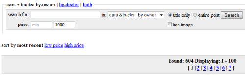 Cars Under 1000 - Craigslist Search