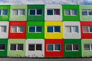 Colorful Shipping Container Homes