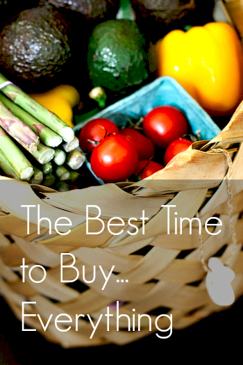 Best Time to Buy Groceries and More