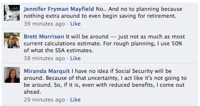 Social Security Facebook Comments
