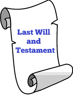 Last Will and Testatment