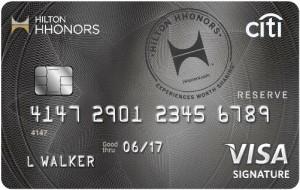 Hilton HHonors Reserve Card Art