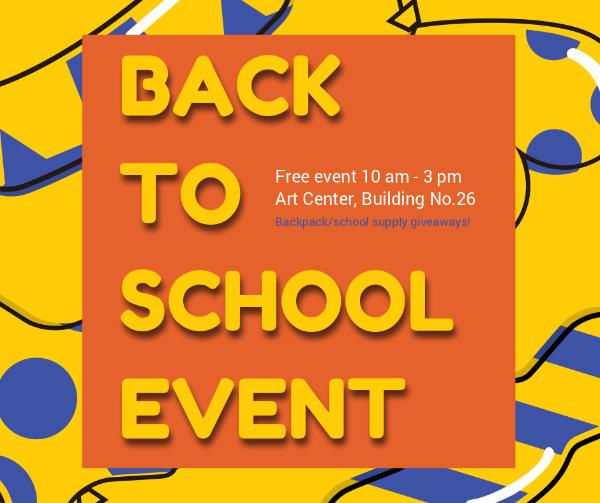 Welcome Back To School Event Facebook Post Template Online - welcome back template