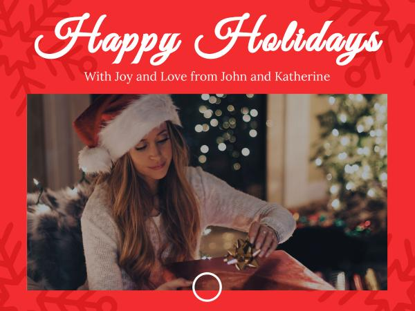 happy holidays Card Maker \u2013 Create Custom Photo Cards Online Fotor