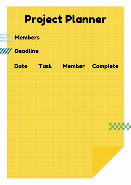 Online Yellow Project Schedule Planner Template Fotor Design Maker
