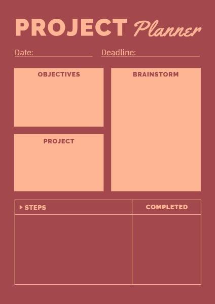 Project Planner Planner Maker \u2013 Design Personal Schedule Online Fotor