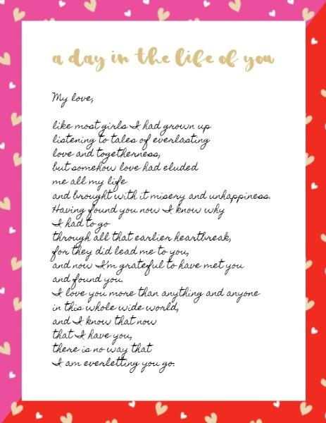 Online Love Letter Letterhead Template Fotor Design Maker