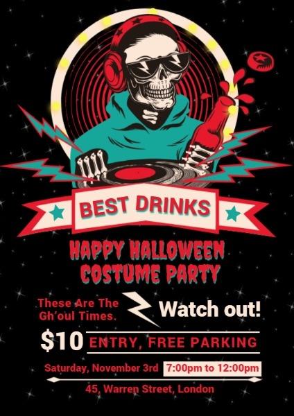Online Halloween Costume Party Flyer Template Fotor Design Maker