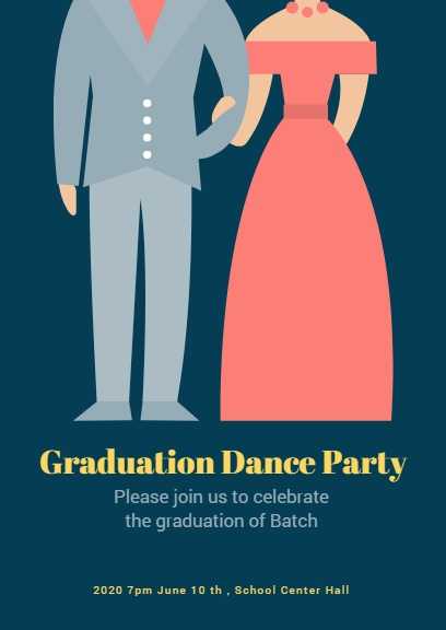 Navy Graduation Prom InvitationInvitation Maker \u2013 DIY Custom