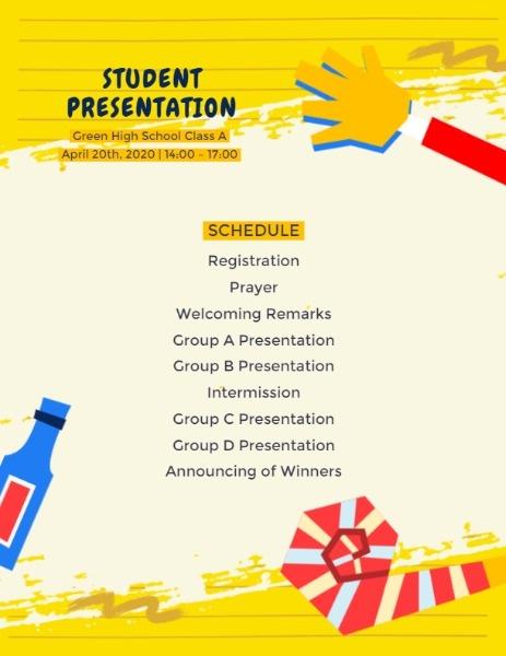 Online Student Presentation Program Template Fotor Design Maker
