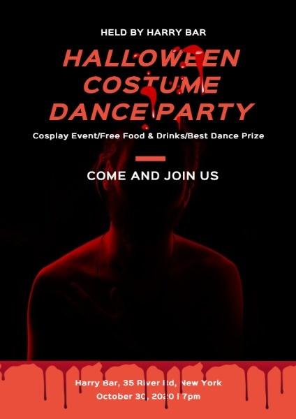 Online Halloween Costume Dance Party Flyer Template Fotor Design Maker