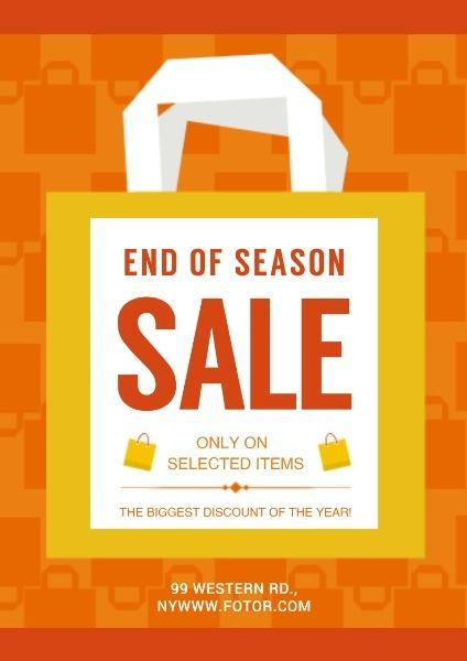 Online End Of Season Sales Poster Template Fotor Design Maker