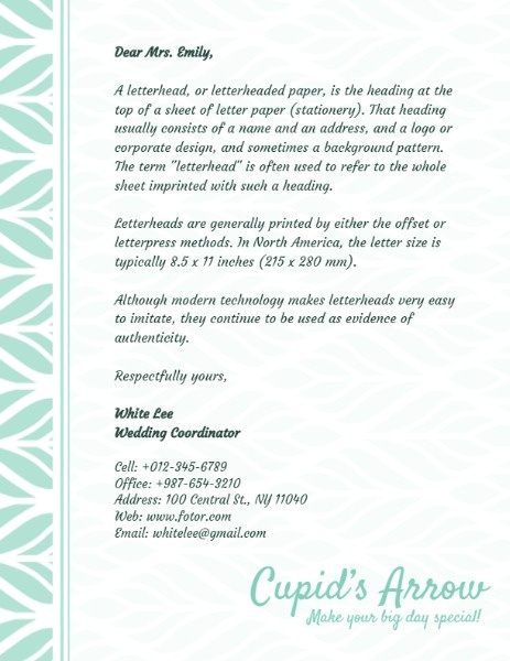 Letterhead Maker \u2013 Create Custom Letterhead Designs Online Fotor