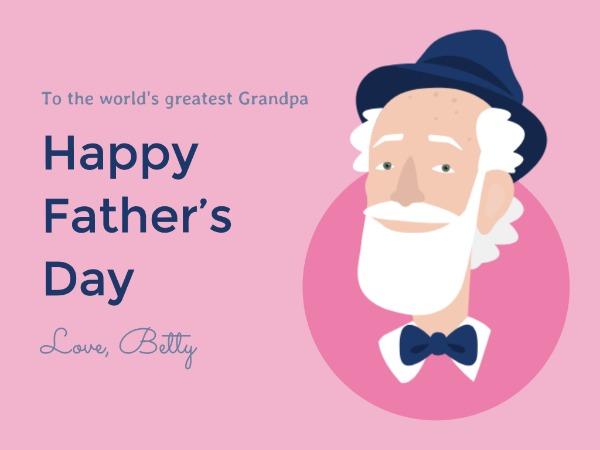 Online Grandpa Father\u0027s Day Card Template Fotor Design Maker
