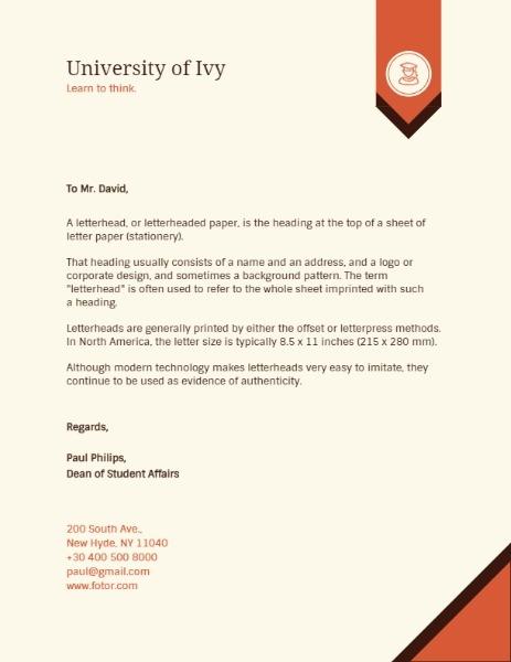 Free Online Letterhead Templates  Layouts Fotor Design Maker
