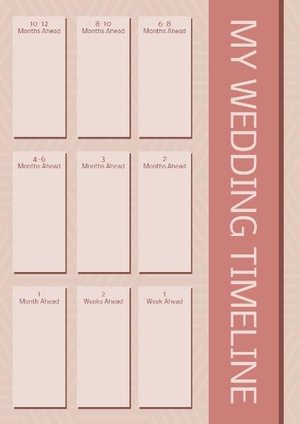Online Wedding Timeline Planner Template Fotor Design Maker