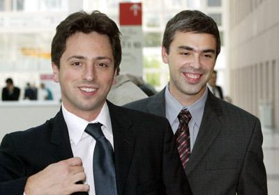 Serge Brin Et Larry Page Les P Res Fondateurs De Google Toujours