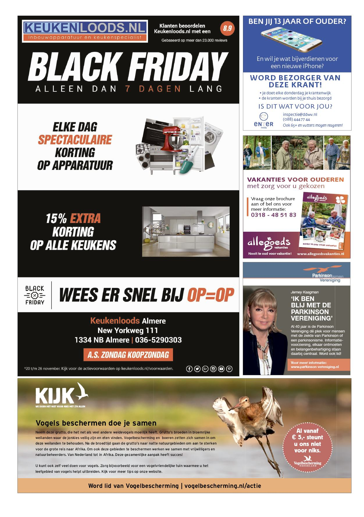 Keukenloods Forum Baarns Weekblad 23 November 2017