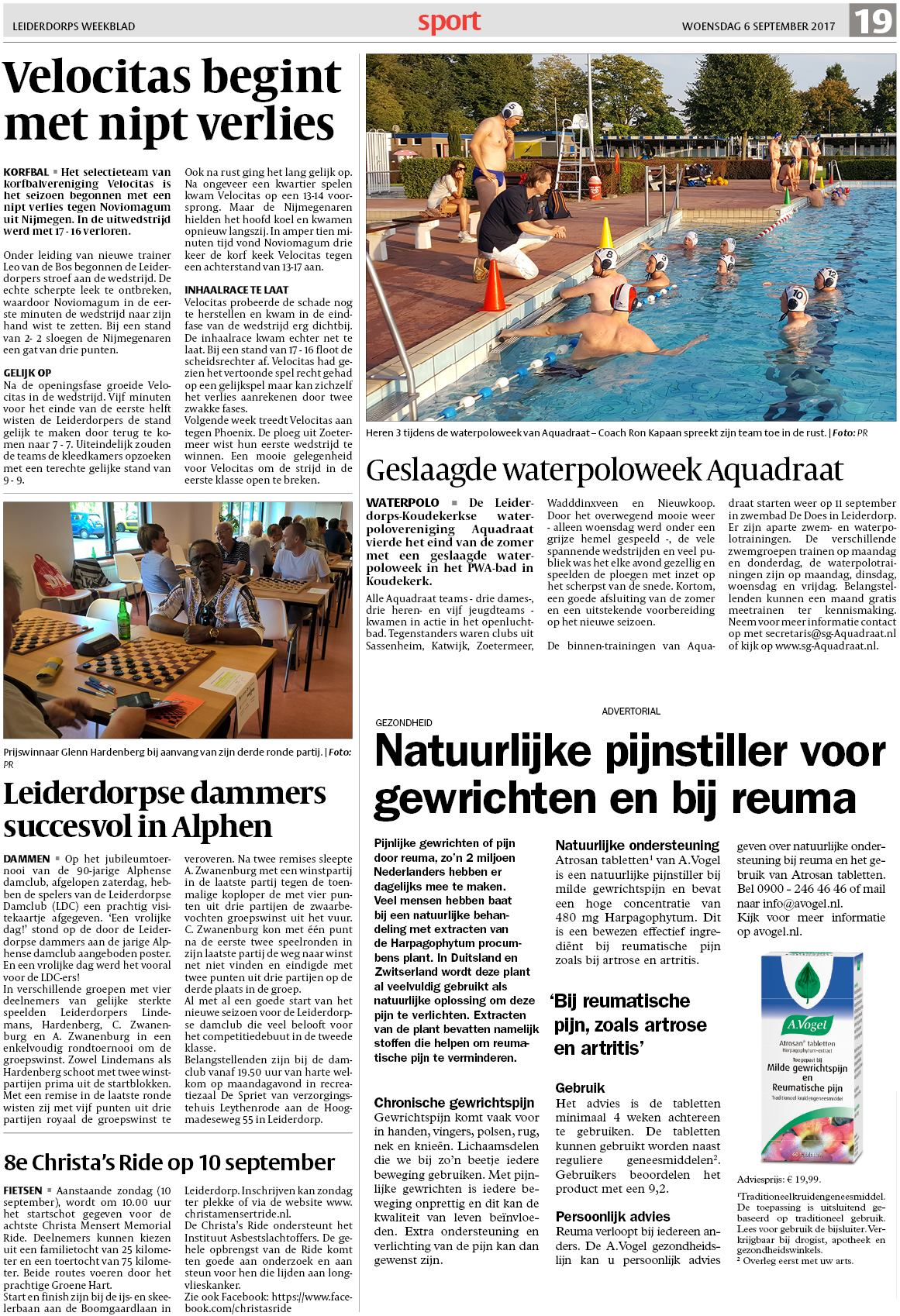 De Joffer Zwembad Leiderdorps Weekblad 6 September 2017