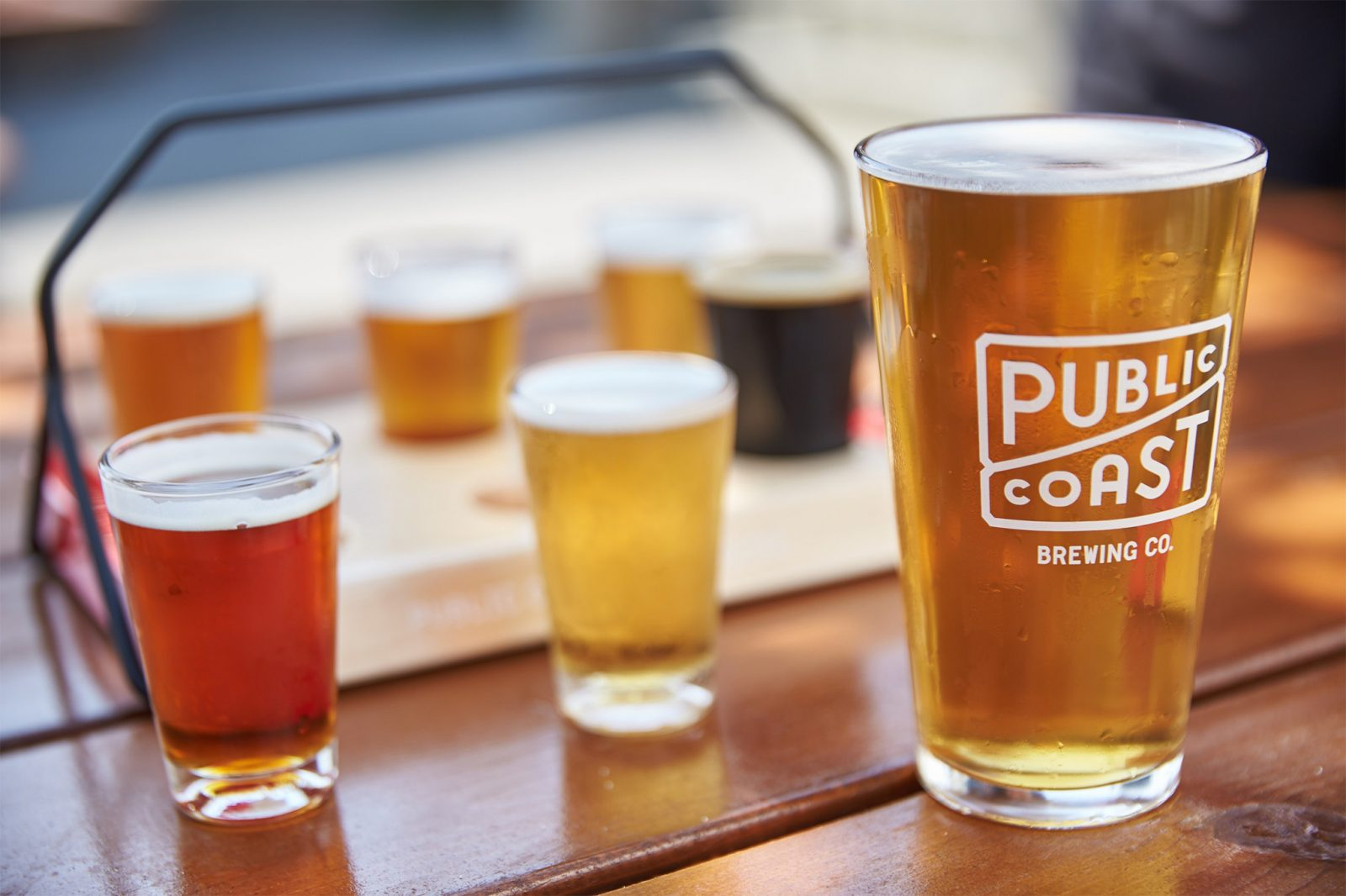 Flying Fish Farmhouse Summer Ale Food At Public Coast Brewing Co Restaurant And Bar In