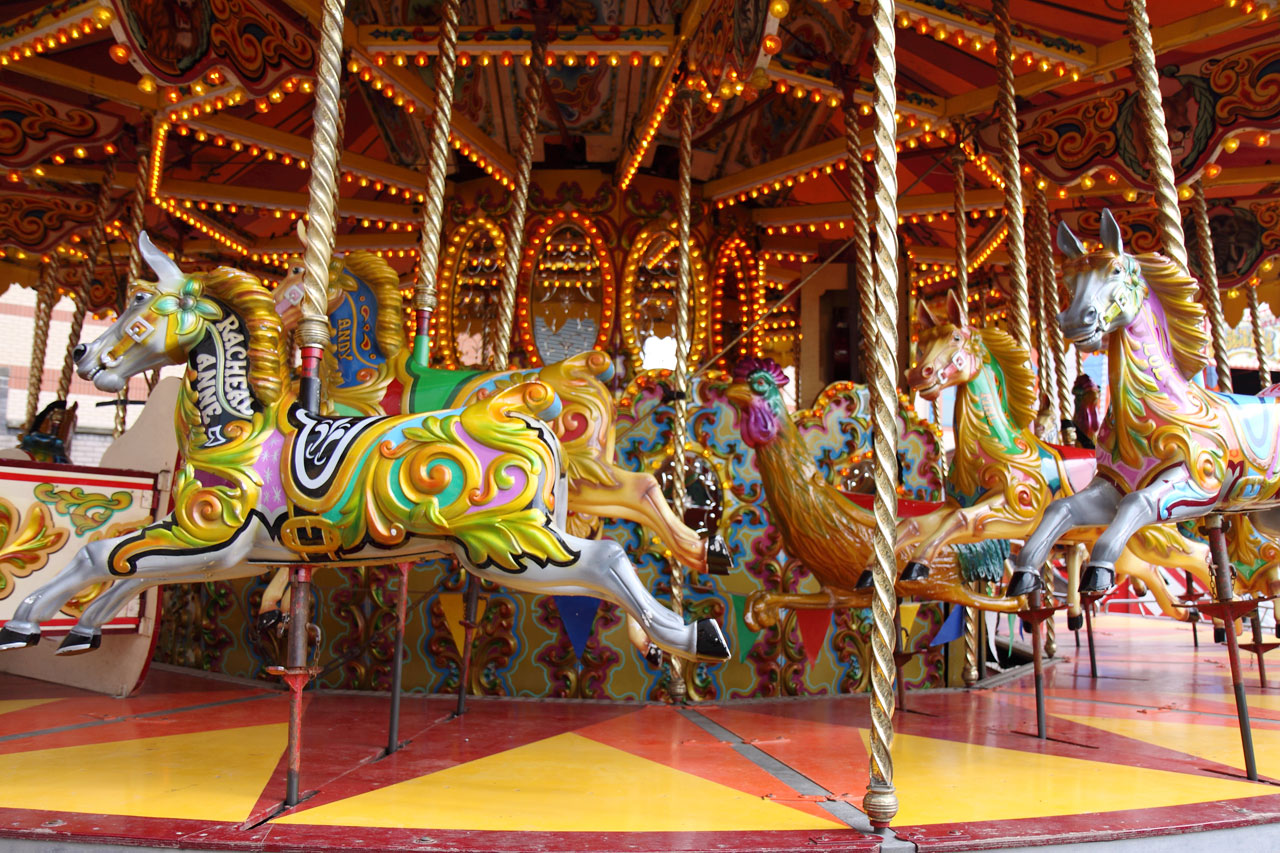 Fall In Central Park Wallpaper Carousel Horses Free Stock Photo Public Domain Pictures