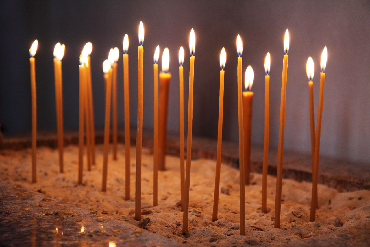 Church Candles Glowing Church Candles Free Stock Photo Public Domain